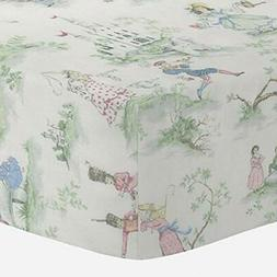 Carousel Sheets Designs Nursery Rhyme Toile Crib Baby