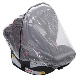 Infant Carrier Car Seat Rain & Weather Sheild Cover 2-In-1,