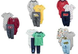 Carters Baby Boys Clothes 3 Pc Cotton Bodysuits New