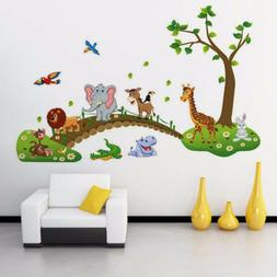 Cartoon Cute Animals Removable Wall Decal Stickers Kids Baby