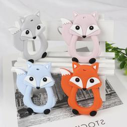 Cartoon Fox Infant Baby Teether Silicone Pacifier Soother Te