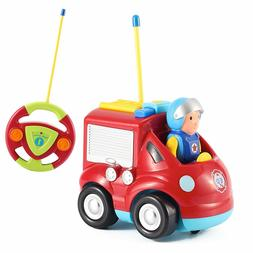 Cartoon R/C Fire Truck Toys for Toddlers - Radio Control Fir