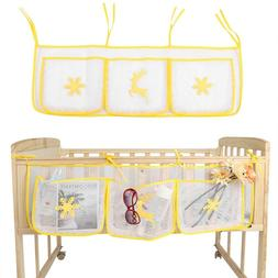 Cartoon Rooms Nursery Hanging Storage Bag Baby Cot Bed Crib