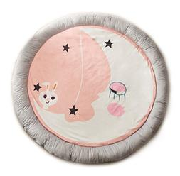 HugeHug Cartoon Fenced Kids Play Mat for Bed Game Rooms Read