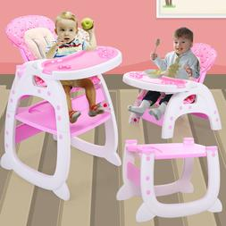 Baby High Chair 3 in 1 Convertible Play Table Seat Booster T