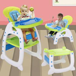 Baby High Chair Table 3 in 1 Convertible Play Seat Booster T