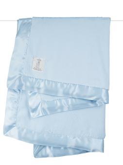 Little Giraffe Chenille Satin Blanket, Blue