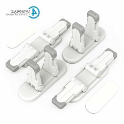 Child Safety Door Lever Lock, 2 Pack with Adhesive Tool-Free
