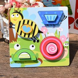 Child Wood Puzzle Cartoon Animal Traffic Infant Baby 6 Month