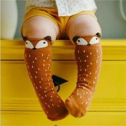 Children Girls Toddler Fox Socks Soft Knee High Hosiery Baby
