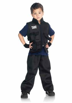 Children's 2 PC Swat Commander Halloween Costume Medium by L