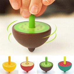 Children's Cartoon Classical Fruit Shape Spinning Top Toy Le