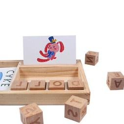 Children's Cognitive Educational Toy Kids Wood Cardboard Lea