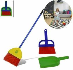 Childrens Broom Dustpan Set Toy Cleaning Set Pretend Play fo