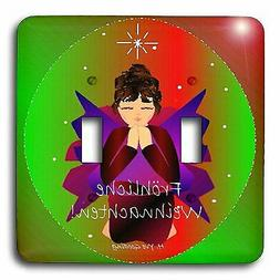 3dRose Christmas Angel Baby Girl Praying Text Double Toggle