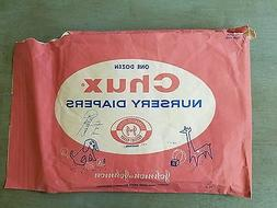 Chux Nursery Diapers Vintage 1960's Baby Nappies