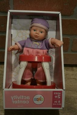 """Circo Target Mini 8"""" Baby Doll with Blue Eyes and Activity C"""