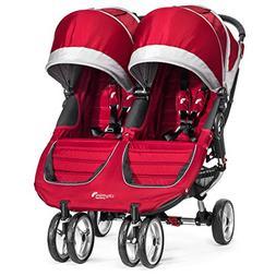 Baby Jogger City Mini Double Twin Stroller Crimson / Gray NE
