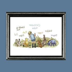 Classic Winnie the Pooh Fine Art Print Nursery Child's Room