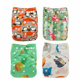 Ohbabyka Cloth Diaper Unisex One Size Reusable Washable Pock