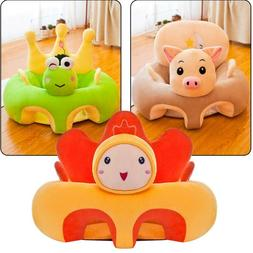 Colorful Baby Learning Sitting Seat Sofa Cover Baby Plush To