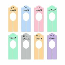 Shappy 8 Pieces Colorful Closet Dividers Baby Boy Girl Cloth