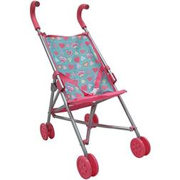 My Sweet Love Colorful Umbrella Baby Doll Stroller Pushchair