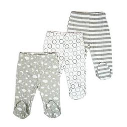 Spasilk Cotton 3 Pack Footed Pants