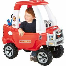Cozy Fire Truck Kids Children's Ride On Play Toy Vehicle Gif