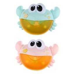 Crab Automatic Bubble Machine Maker Electric Bath Toys For T