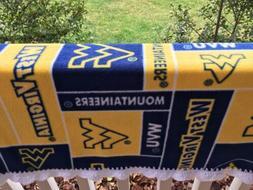 Crochet Edge West Virginia University Baby/car Seat Blanket