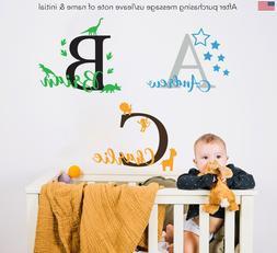 Custom Name Personalised Wall Sticker Baby Kids Nursery Boys