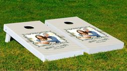 Customizable Two Hearts Cornhole Game With Bags Backyard And