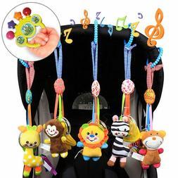 Cute Animal Baby Rattle Toys Newborn Crib Mobile Musical Plu