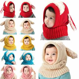 Cute Baby Toddler Girls Boys Warm Hat Winter Beanie Hooded S