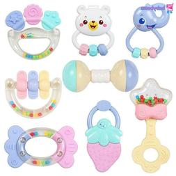 Cute Baby Toys Newborn Teether Hand Bells Baby Toys 0-12 Mon