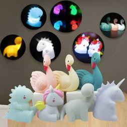 Cute Cartoon Head LED Night Light Baby Nursery Bedroom Desk