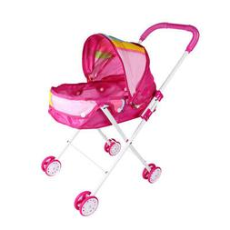 Lovely Baby Doll Stroller Trolley Pink, Soft Plastic Handles