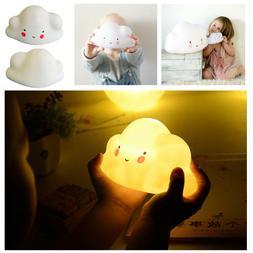 Cute Smiley Cloud Night LED Light Table Lamp Kid Room Nurser