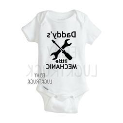 Daddy's Little Mechanic Custom Baby Onesie Bodysuit Unisex F