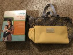 Diaper/Baby Bag and Evenflo Breathable Mesh Baby Carrier Bac