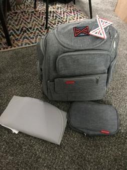 Bag Nation Diaper Bag Backpack with Stroller Straps Changing
