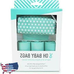 Oh Baby Bags - Diaper Bag Clip-On Dispenser Gift Box with Sc