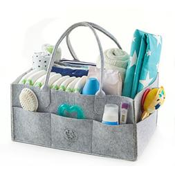 Baby Diaper Caddy Organizer, Large Baby Nursery Basket For D