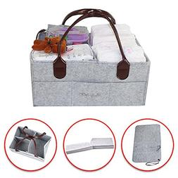 Diaper Caddy- Portable Diaper Storage Bag- Nursery Bin for D
