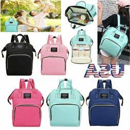 Diaper Mummy Bag Multi-Function Waterproof Travel Backpack N
