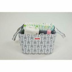 Diaper Storage Caddy Portable Bag Stacker With Beautiful Whi