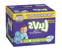 Diapers Size 2 Luvs Ultra Leakguards Disposable Baby Diapers