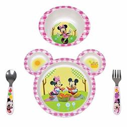 Dinnerware Feeding Baby Set 4 Piece Disney Minnie Kitchen Pl