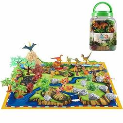 Dinosaur Play Set Kid Educational Toy Action Figure Map 50pc